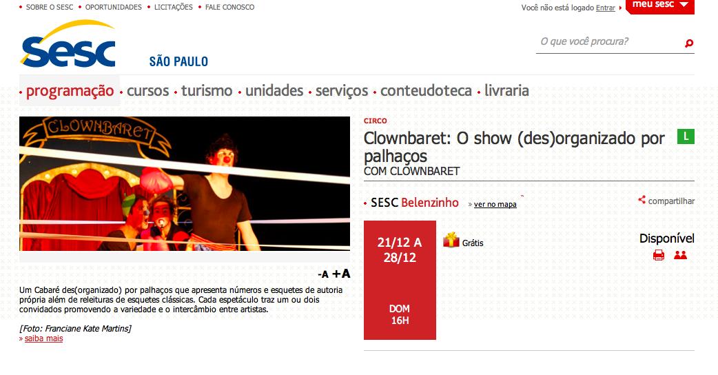 Clownbaret o show (des) organizado